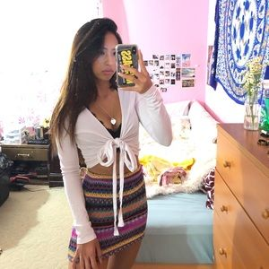 Colorful Patterned Skirt